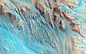 Erosion on Mars,MRO image