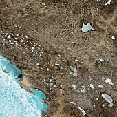 Victoria Island,Canada,satellite image