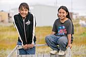 Inuit children on Shishmaref,Alaska