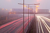 Cars driving on the M1 motorway,UK