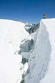 Crossing the Vallee Blanche,France