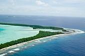 Funafuti atol on Tuvalu from the air