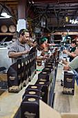 Bourbon bottling production line