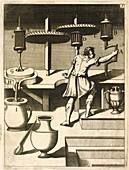 Mechanical cogs,17th century