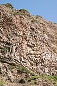 Folded Sandstone,Kythira,Greece