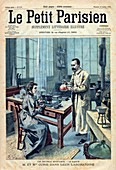 Discovery of radium by the Curies,1904