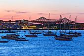 Boston Harbour,USA,at dusk
