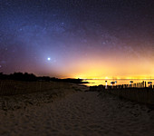 Milky Way over the coast