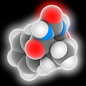 Phenobarbital drug molecule