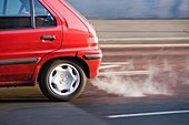 Exhaust fumes from a car exhaust