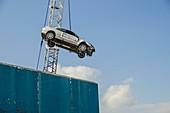 Dangling car