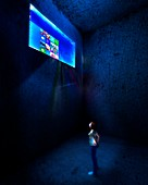 Computer isolation,conceptual image