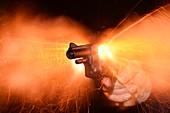 Blank-firing revolver