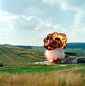 Fuel tank explosion test