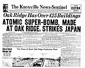 Atomic bomb newspaper front page