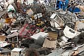 Scrap metal awaiting recycling