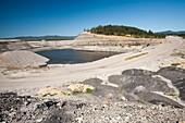 An open cast coal or drift coal mine