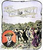 Wilbur Wright's first flight in Europe