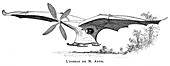 Clement Ader's flying bird 'Eole'