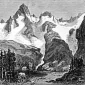 Rush Creek Glacier,California,USA