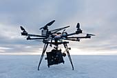 Octocopter movie camera drone