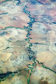 Aerial view of a river,Madagascar