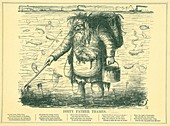 Dirty Father Thames,cartoon,1849