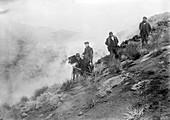 Filming Mount Etna eruption,1910