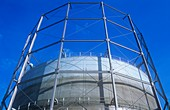 A gasometer in Leeds,UK