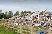 Rubbish dumped on wasteland