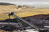 Conveyor with coal from opencast mine