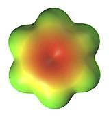 Benzene aromatic hydrocarbon molecule
