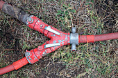 Fire hose connector