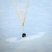 Soyuz TMA-08M descent module landing