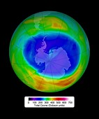 Antarctic ozone concentrations,Sep. 2014