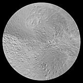 Rhea's north pole,satellite image