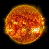 X2-class solar flare,SDO image