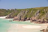 Porthcurno beach,Cornwall,UK