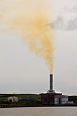 Emissions from a gas fired power plant