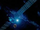 Dawn spacecraft at Ceres,illustration