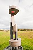 Geothermal-powered sculpture