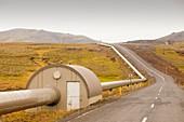 Geothermal pipeline,Iceland