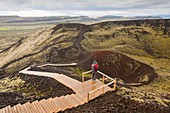Grabrok volcanic crater,Iceland