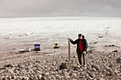 Glacial retreat,Iceland