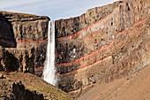Hengifoss waterfall,Iceland