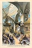 Religion and science,19th-century satire
