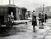 Spanish flu ambulances,1918