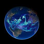 Atlantic atmospheric water vapour