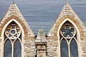 Solar tiles on a church