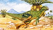 Hypsilophodon dinosaur,illustration